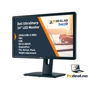 "Dell UltraSharp 24"" 1920x1200 IPS LED Skjerm"