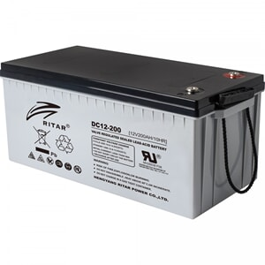 RITAR AGM DC12-200 Deep Cycle Batteri 12V 200AH