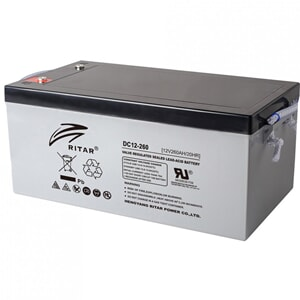 RITAR AGM DC12-260 Deep Cycle Batteri 12V 260AH