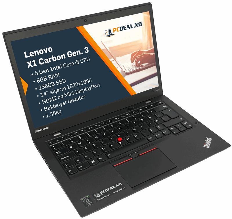 Lenovo X1 Carbon Gen3 i5-5300U/256SSD/8GB/14 1920x1080/W10p